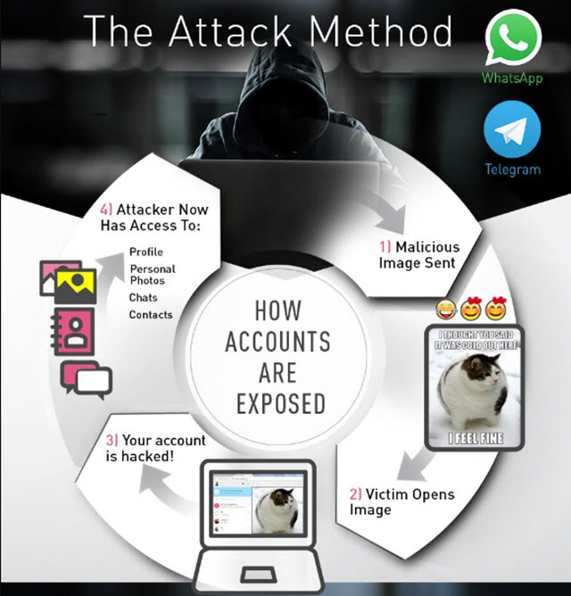 تحذير لمستخدمى تطبيقات واتساب وتليجرام من هذه الصور