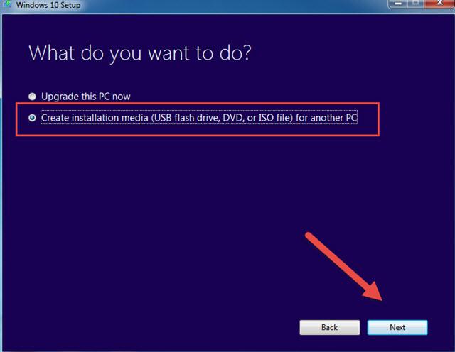 حرق ويندوز 10 على فلاشة USB مباشرة وبدون تحميل ملف ISO