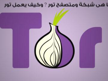 ما هى شبكة ومتصفح تور Tor ؟ وكيف يعمل تور؟
