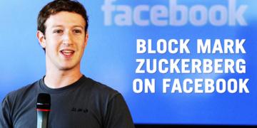 اخيراً الان يمكنك عمل بلوك لمارك زوكربيرج في فيسبوك !