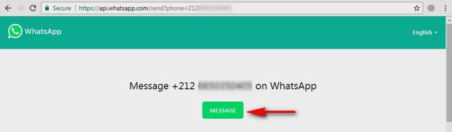 كيفية إرسال رسالة فى الواتساب بدون حفظ رقم المتصل بطريقتين